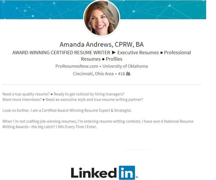 ProResumesNow Amanda Andrews CPRW